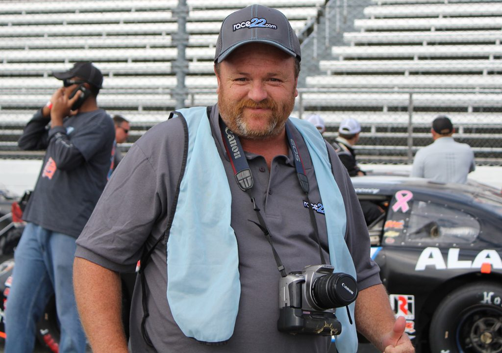 Mark Rogers, Jr., pictured during pre-race at Martinsville Speedway. (Andy Marquis/Race22.com photo)