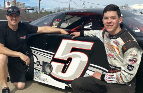 Glasson Grabs Second Place Finish in Greenville Late Model Debut