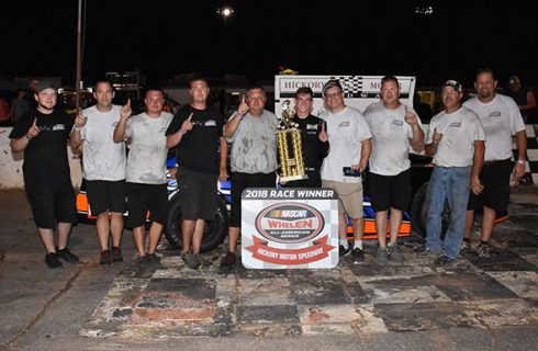 Lemke Breaks Through For First Stock Car Victory At Hickory