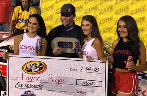 Riggs Bounces Back with CARS Tour Victory at Kingsport